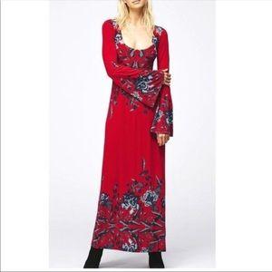 Free People   Midnight Garden Floral Maxi Dress